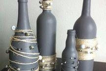ideias criativas garrafas