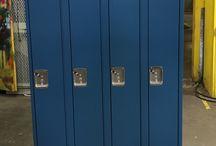 Barton School - Minneapolis, MN #DeBourgh #Lockers / #Corregidoor #CadetBlue #SenryThreeLatch #PianoHinge #SolidVentilation #SlopeTop #ClosedBase #DeBourgh #Lockers