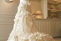 wedding gown cakes