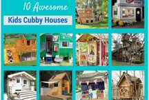Awesome Kids Cubbyhouses / A collection of super cool cubby houses for kids and big kids at heart!  #cubbyhouse #play #kids