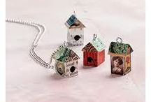 There is no place like home... / I make fabric house shaped brooches and magnets using scrap fabrics and vintage beads and trims. This is a collection of my work as well as some fantastic inspirations from other crafters and artists and how they have created their own amazing little houses