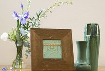 Studio Collection 2016 / A collection of art pottery, art tiles, and frames. All designed in 2014.
