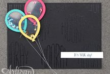 Balloons stamp and punch