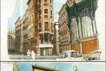 Watercolour architect