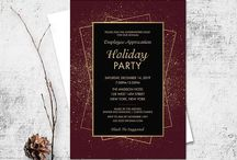 Holiday Party and Christmas Parties / Holiday party invitations, Christmas party invitations and employee holiday party invites and ideas.