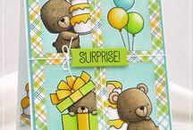 Card bear stamp set