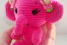crochet pink elephant