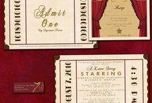 Theater themed wedding event / Vintage movie theater wedding invitation theatre theme event