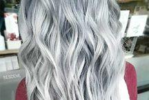 Colores de cabello gris