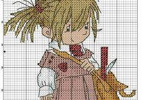 Cross stitch - girls