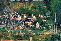 Les grands noms de la peinture française / Cézanne, Gauguin... Les grands Français.