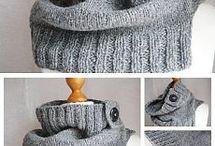 çeşitli boyunluk ve şapkalar