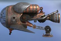 steampunk spaceship design