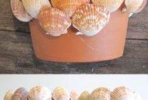 ideias criativas com conchas