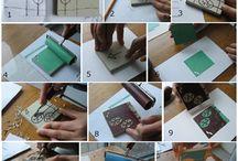 Printing / lino printing: inspiration, tutorials