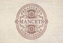 vintage labels / logo and vintage labels