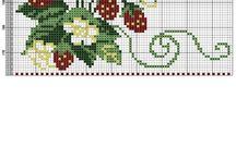 cross stitch leśne owoce
