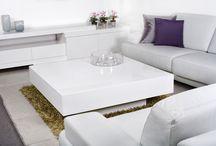 Salon białe meble