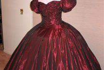 Crinoline 1860 rouge