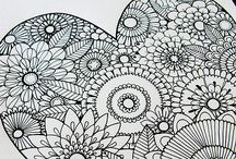 Zentangles, patterns, coloring