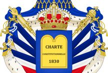 Almanach de Saxe Gotha - Kingdom of the French - House of Bourbon-Orleans / The July Monarchy (French: la monarchie de Juillet), officially the Kingdom of the French (French: Royaume des Français), was a period of liberal constitutional monarchy in France under King Louis-Philippe starting with the July Revolution (or Three Glorious Days) of 1830 and ending with the Revolution of 1848.  Official website of The Count of Paris: http://maisonroyaledefrance.fr/biographie_comte_fr.html  Almanach de Saxe Gotha Page: http://www.almanachdegotha.org/id270.html