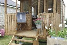 our Shepherd's hut shop / Goodies from the garden