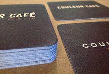 Posavasos personalizados / Posavasos con la imagen de tu local o negocio impresos sobre papeles muy absorbentes.