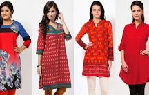 hot with red kurtas for women / buy red kurtas for women online in India - http://fashion-for-women-2012.blogspot.com/2014/01/be-fashionably-hot-with-red-kurtas-for.html