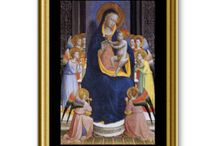 Traditional Christmas Cards / A selection of the cards available in Candida's Zazzle Traditional Christmas Card Store at http://www.zazzle.com/cmartinelli.  All the cards have Italian art images on the front, including many beautiful Italian Madonna and Child images.  The interiors of the cards are all customizable, so you can add a family photo, or special message.  The interiors vary: blank, Buon natale, Merry Christmas, Happy Christmas, New Year's wishes, recipes, and prayers by St. Francis.