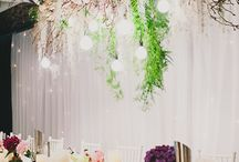 Hanging Florals and Floral Chandeliers
