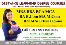 Distance Education in India / admission@mcmacademy.in