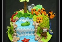 jungle n car cake