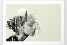 Portrait / Afin de rajouter une touche d'originalité à votre intérieur, les images fantaisistes sont tout à fait appropriées.