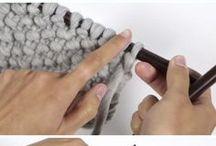 Knitting moss stitch