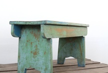 VINTAGE AND ANTIQUE WOODEN BENCHES AND STOOLS / Benches and stools, antique & vintage. / by Josie Meisberger