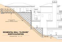 Hillside terrace houses