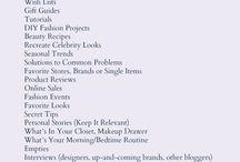 Blogging - Fashion Boards