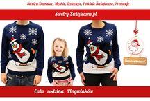 Swetry z pinginami / Swetry świąteczne z motywem pingwinka.