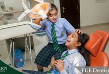 FUE Destitry trip / In Science this term we are learning about teeth. Year 4 had the pleasure of  visiting the Future University in Egypt Dentistry department, to see all the dentists busy at work.  The children got to experience what its like to be a dentist, handle the equipment, look at X-rays, give an examination, and say good bye to cavities. It was an exciting and educational trip for all.