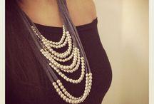 Fabrics necklace