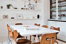 Matbord / Matbord, mixed chairs