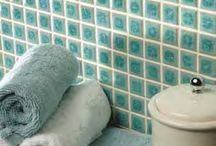Porcelain Mosaics / Porcelain is a great look as a mosaic and can be easily used as a border in a bathroom, as well as in a wetroom or shower. The floor tile Porcelain mosaic range features a range of different shapes and colours which work well in traditional settings, although are a practical choice for any bathroom.