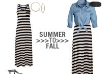 Converting Spring/Summer Clothes for the Fall/Winter / These are some great ideas for wearing that favorite summer dress all year long or getting the most out of your wardrobe on a budget.  Some really cute ideas! / by Christy Boehringer