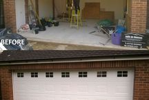 Before and After Garage Door Installations