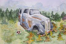 Watercolor paintings / Paintings made by Michael Bastiaans