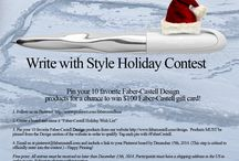 "Write with Style Holiday Contest / Details for the Faber-Castell USA ""Write with Style"" Holiday Contest. #FaberCastell"