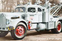 Old White trucks