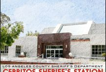 Cerritos Sheriff's Station / 18135 Bloomfield Ave. Cerritos, California 90703- Phone (562) 860-0044 / by Los Angeles County Sheriff's Department