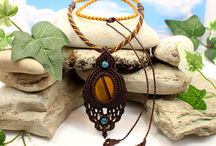 tiger's eye macrame necklace