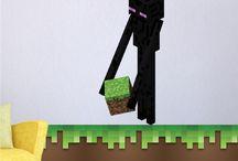 Minecraft Wall Decals & Kids Decor / Minecraft Wall Decals. Cool Minecraft video game ideas for kids.